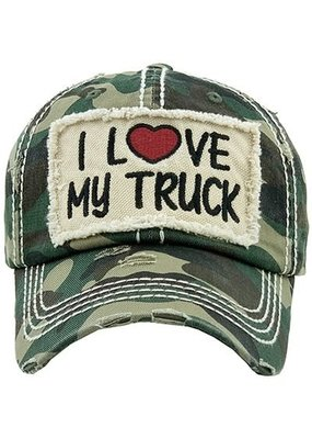 Your Fashion Wholesale I Love My Truck Vintage Hat