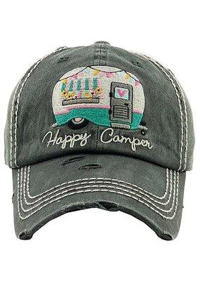 Your Fashion Wholesale Happy Camper Vintage Hat