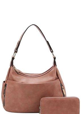 Applejucie Vegan Leather Hobo Bag