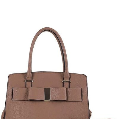 Applejuice Ribbon Front Vegan Leather Handbag