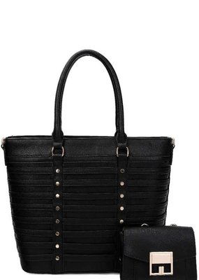 Applejuice Vegan Leather Stripe Handbag