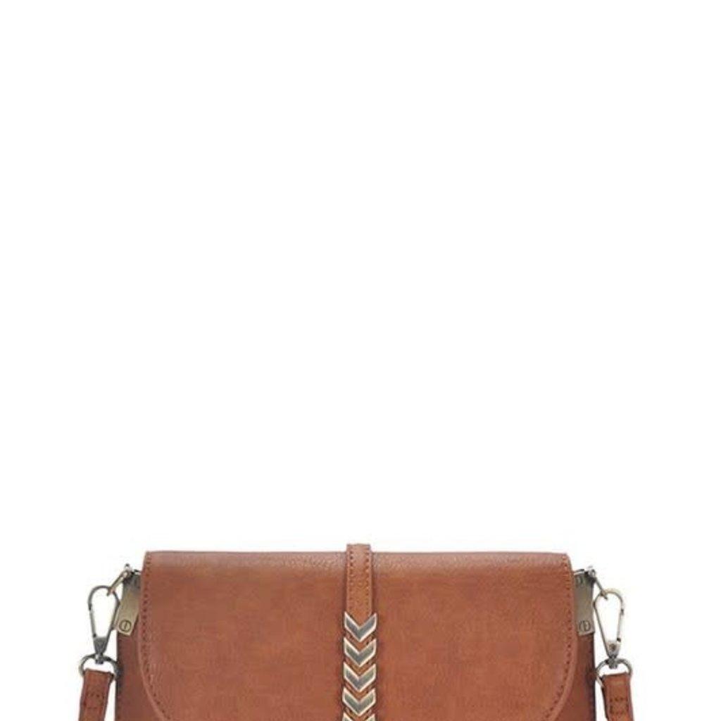 Applejuice Tan Vegan Leather Shoulder Bag
