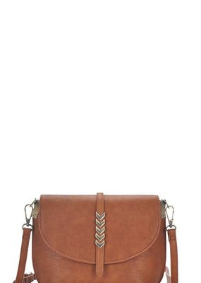 Applejuice Tan Vegan Leather Shoulder Bag