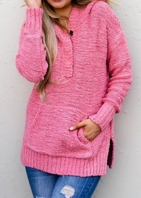 And the Why Mauve Hooded Sweater With Pocket