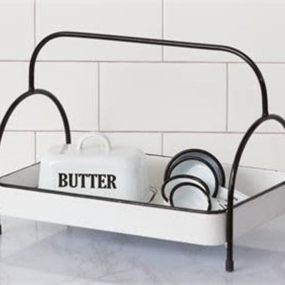 Audrey's Stand Up Metal Handle Tray