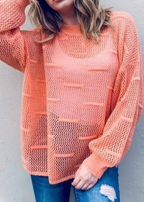 And the Why Peach Loose Knit Sweater