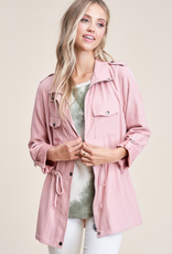 Staccato Blush Corduroy  Zip Up Jacket