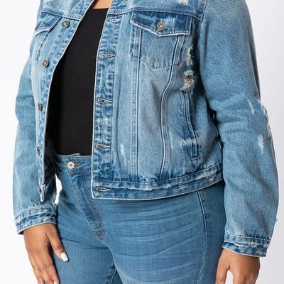 KanCan KanCan Light Wash Denim Jacket