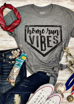 TTT Home Run Vibes Gray Tee (S-3XL)