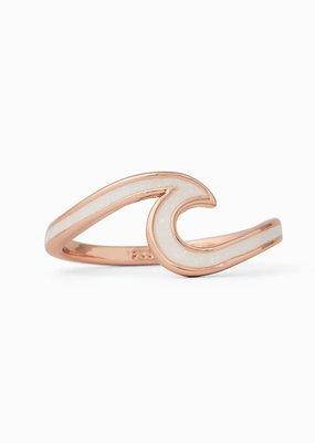 Gold Enamel Wave Ring