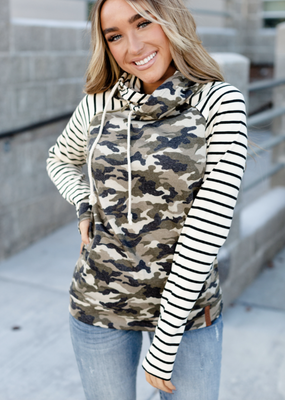 Ampersand Camo Stripe Double Hood - Ampersand Ave (M only)