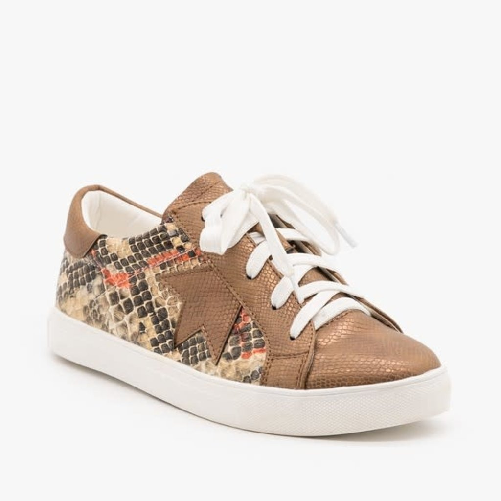 Brown Gold Snake Sneakers (10)
