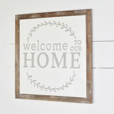 Pd Home & Garden Welcome Home Tin Sign