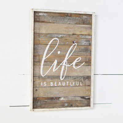 Pd Home & Garden Life is Beautiful Wood Sign