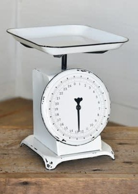 Pd Home & Garden Old Tin Table Top Scale