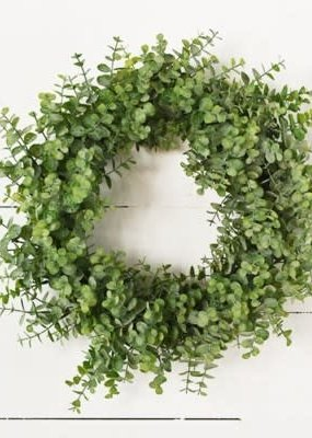 """Pd Home & Garden 18"""" Eucalyptus Green Wreath"""