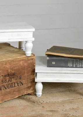Pd Home & Garden White Table Risers