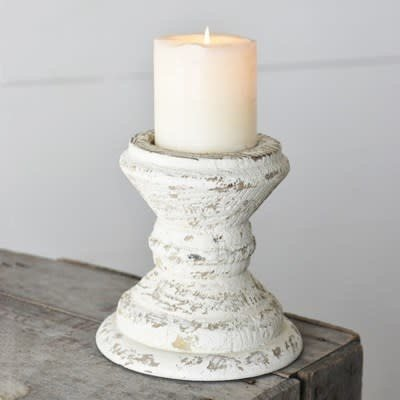 Pd Home & Garden Antique White Candle Holder