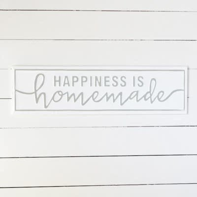 Pd Home & Garden Homemade Happiness Tin Sign