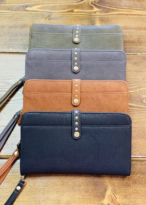 Applejuice Studded Flap Long Wallets