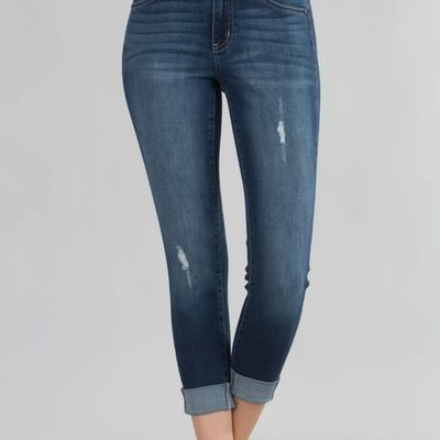 KanCan KanCan Cuffed Crop Denim