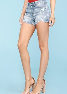 Judy Blue Judy Blue Distressed Star Shorts