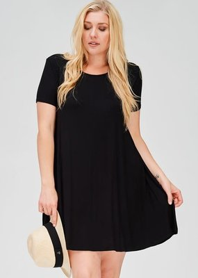 a. gain Scoop Neck T-Shirt Dress - Black