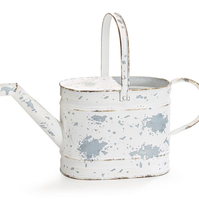 Burton and Burton Distressed White Watering Can