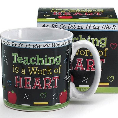 Burton and Burton Teaching Is A Work Of Heart Mug