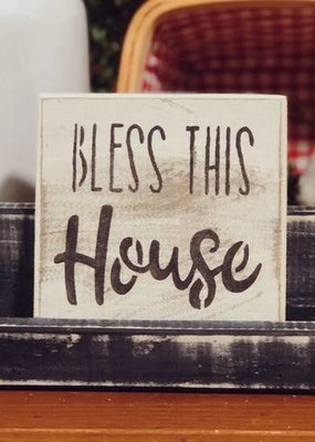 Pine Designs Bless This House Tile