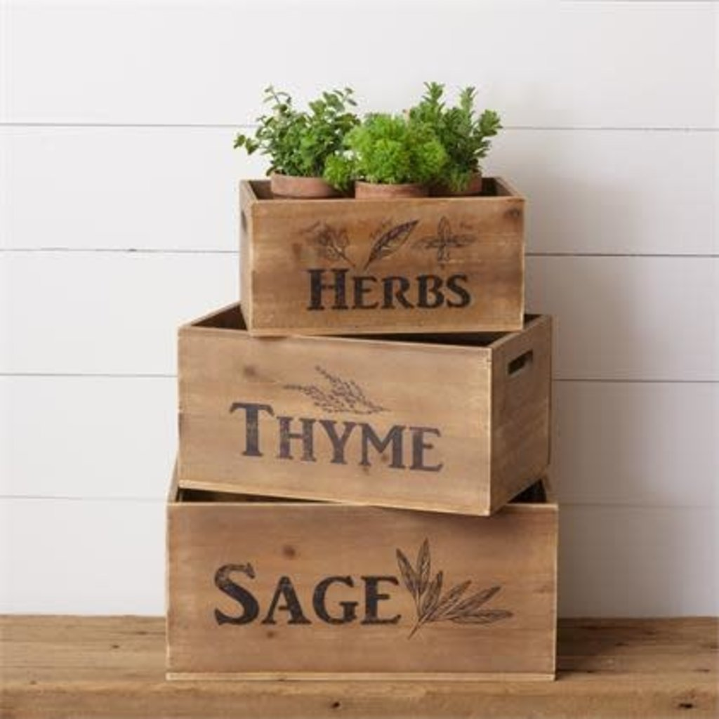 Audrey's Set of 3 Wood Crates