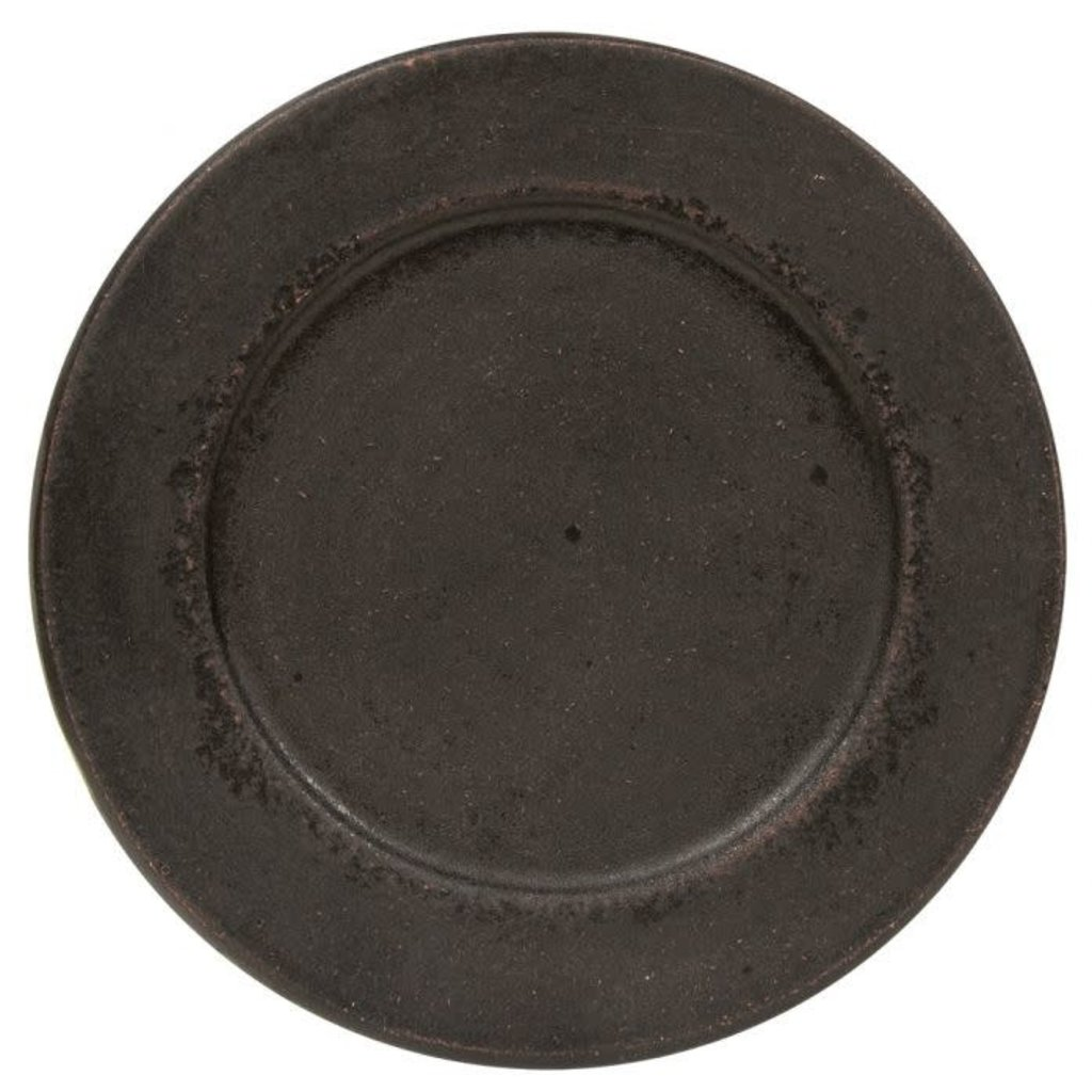 """Mullberry Distressed 8.5"""" Candle Plate"""