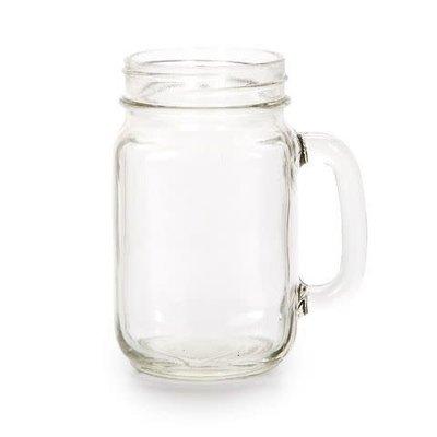 Mullberry 16oz Mason Jar With Handle
