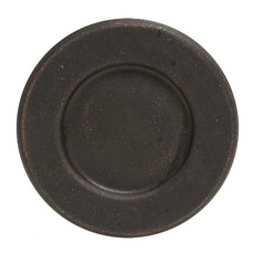 """Mullberry 6"""" Distressed Black Candle Plate"""