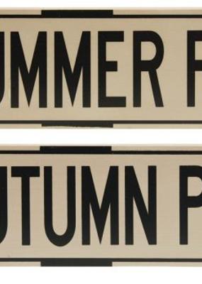 Mullberry Season Street Signs
