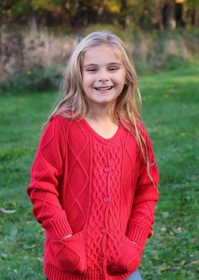 Sissy Mini Girls Knit Cardigan - Red or Black