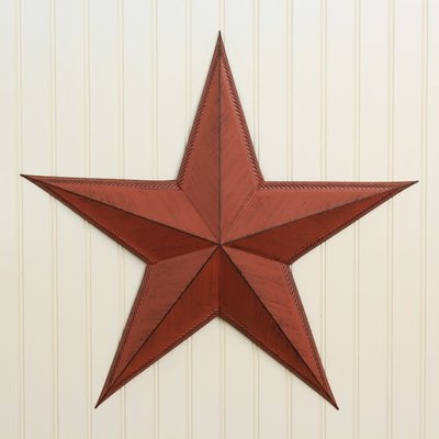 """Mullberry 24"""" Red Metal Star"""