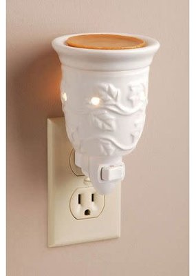 Mullberry White Embossed Plug In Wax Melter