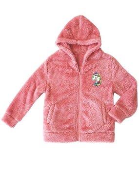 Cutie Patootie Kids Rosy Pink Teddy Fleece Jacket