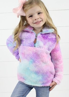 Glittering South Kids Rainbow Sherpa