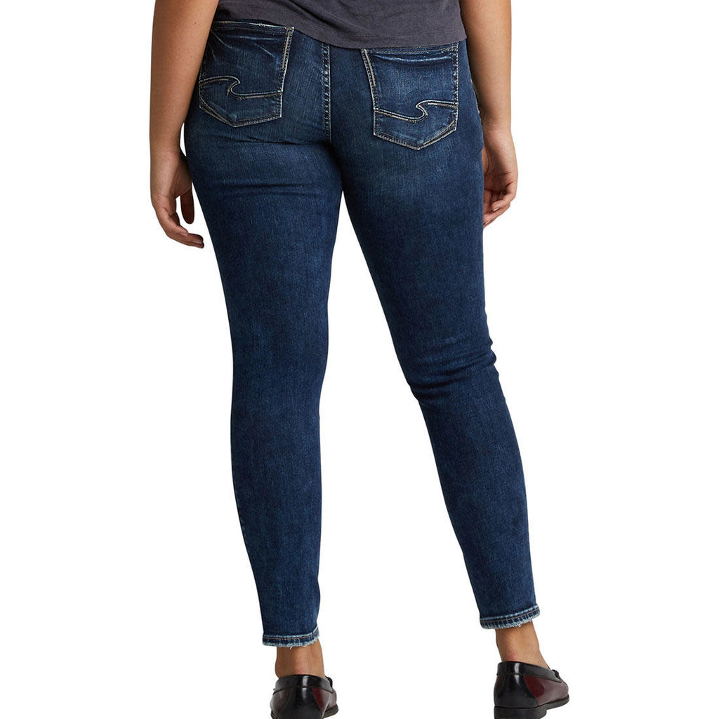SILVER JEANS Silver Jeans Co - Elyse Dark Mid Rise Skinny