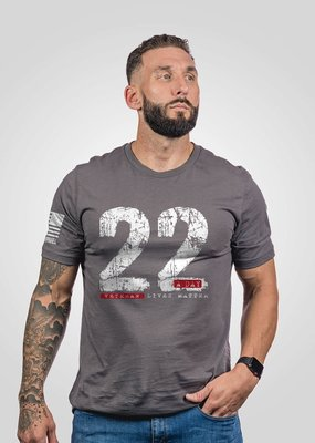 NINE LINE Gray 22 A Day - Nine Line Apparel (S-2XL)