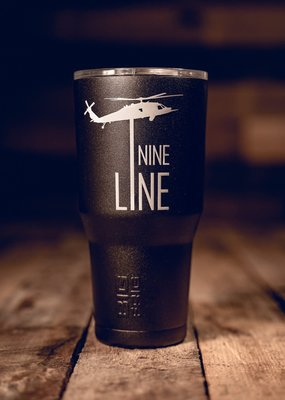 NINE LINE Black 30 oz. Stainless Steel Tumbler - Nine Line
