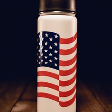 NINE LINE White Flag Metal Bottle w/ Flip Lid - Nine Line
