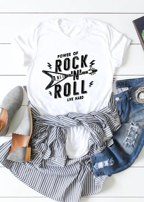 Kissed Apparel Power Of Rock & Roll Graphic Tee (M & XL)