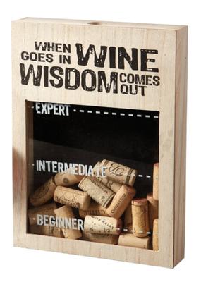 Design Imports Wine Expert Cork Box