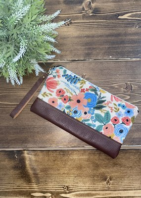 Lilly James Co Lilly James Co. Leather Clutch - Cream Floral