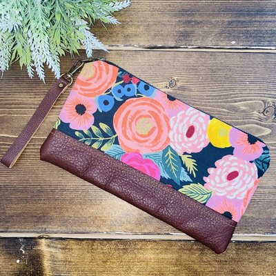 Lilly James Co Lilly James Co. Leather Clutch - Coral Flowers
