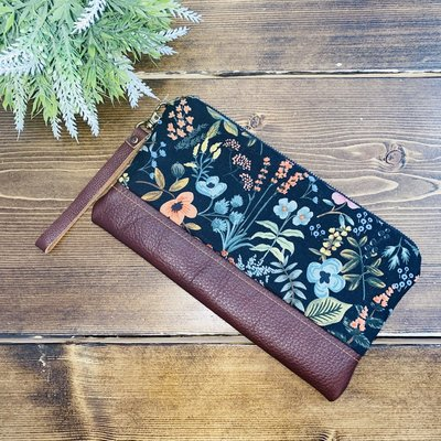 Lilly James Co Lilly James Co. Leather Clutch - Dark Floral