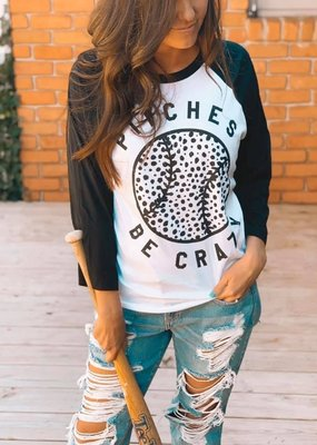 Oliver & Otis Pitches Be Crazy Unisex Raglan